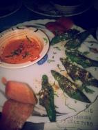 veg cutlet with mayo schezwan dip